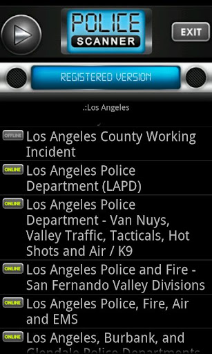 Police Scanner Radio PRO screenshot