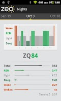 Screenshot of Zeo Sleep Manager