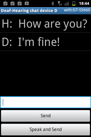 "Deaf-Hearing chat. ""D""-trial. - screenshot"