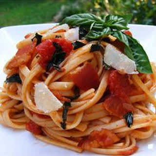 Peppered Bacon and Tomato Linguine.