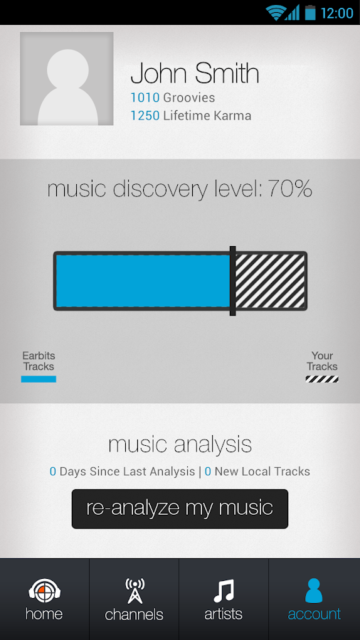 Music Discovery Radio App - screenshot