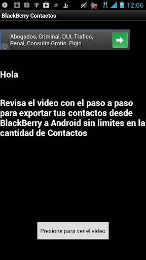 BlackBerry Contacts