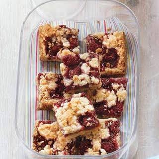 Oatmeal-Raspberry Bars.