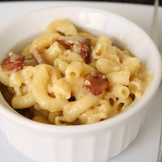 Three-Cheese and Bacon Macaroni