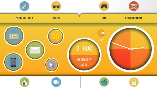 【免費個人化App】Retro Circle for ssLauncher OR-APP點子