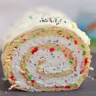 Christmas Vanilla Roll Cake.