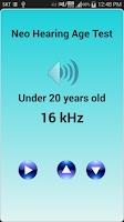 Screenshot of Neo Hearing Age Test (free)