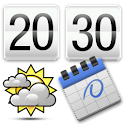 Clock Calendar Widget + logo