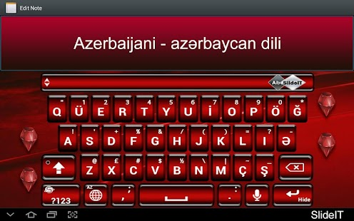 SlideIT Azerbaijani Pack - screenshot thumbnail