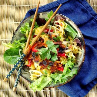 Thai Green Mango Salad with Coconut Bacon.