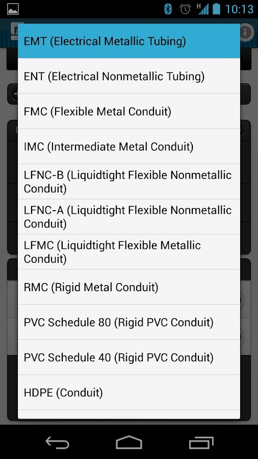 Conduit fill tracker android apps on google play conduit fill tracker screenshot keyboard keysfo Images
