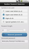 Screenshot of Password Generator