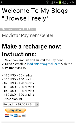 Movistar Credit Recharge