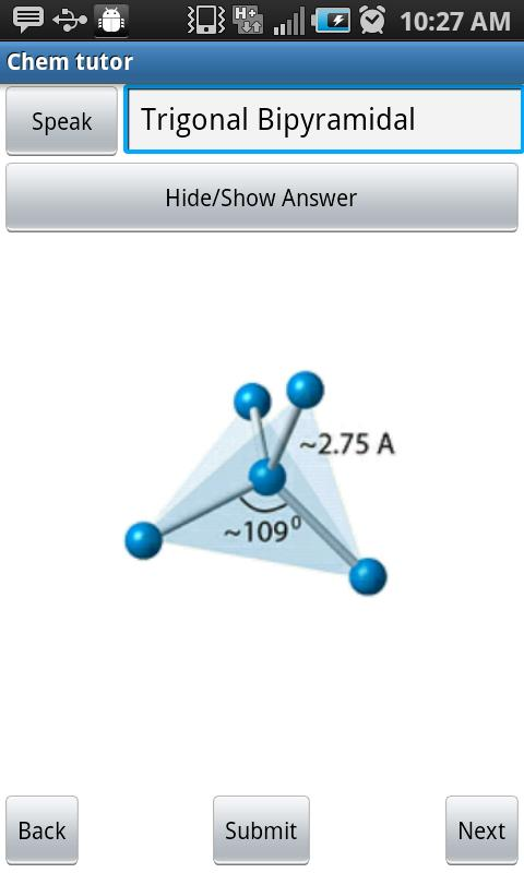 Chem Tutor: Molecular Shapes - screenshot