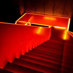 Stairway to Hell by Jernej Lah - Buildings & Architecture Architectural Detail ( lights, nemčija, ruhr museum, ekskurzija, germany, #GARYFONGDRAMATICLIGHT, #WTFBOBDAVIS,  )