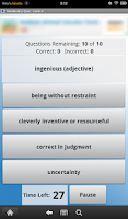 Screenshot of English Vocabulary Level 4