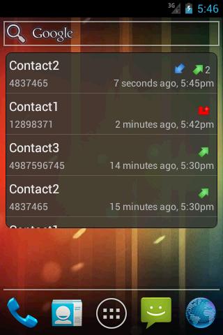 Recent Calls - Widget