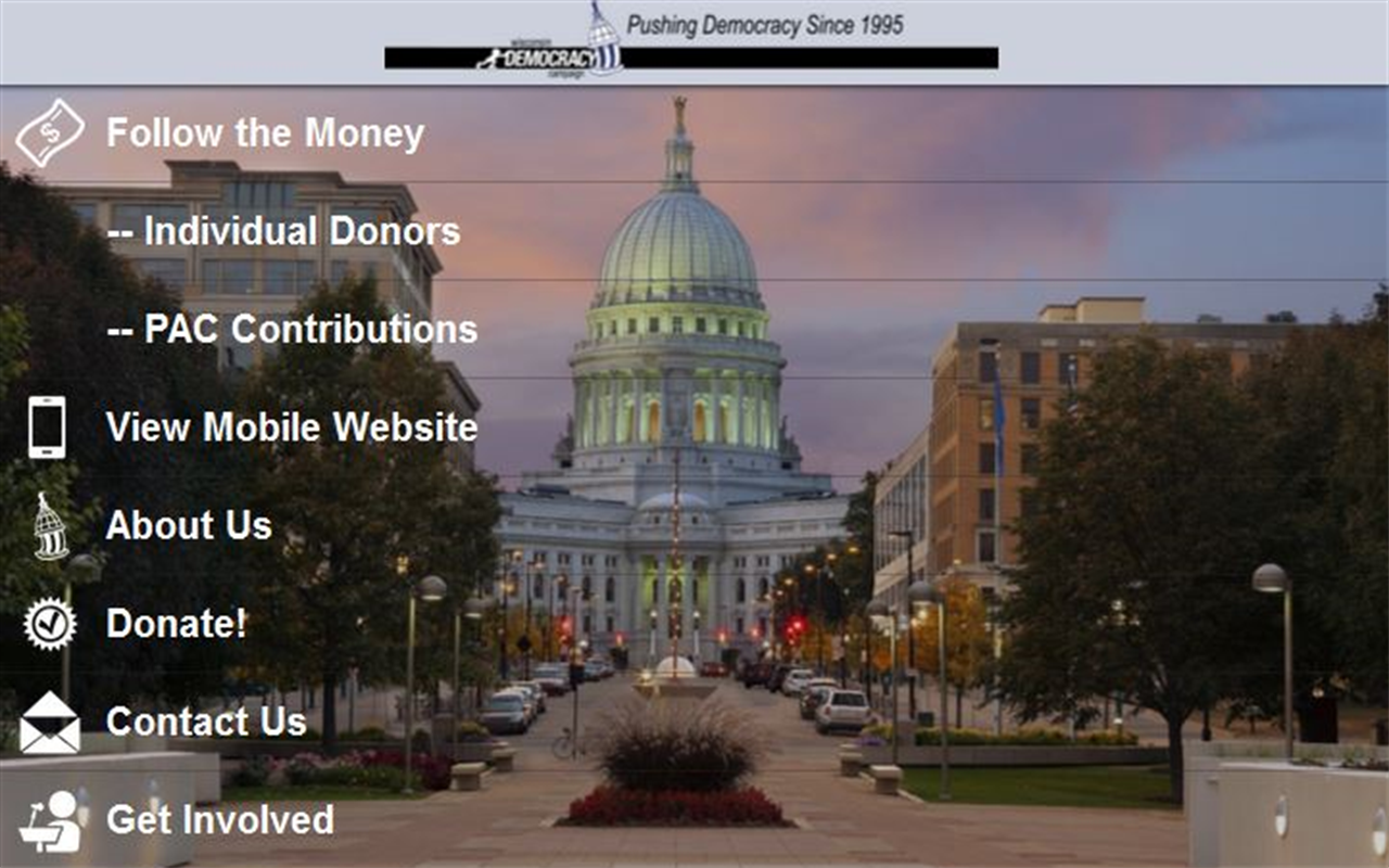 Wisconsin Democracy Campaign- screenshot