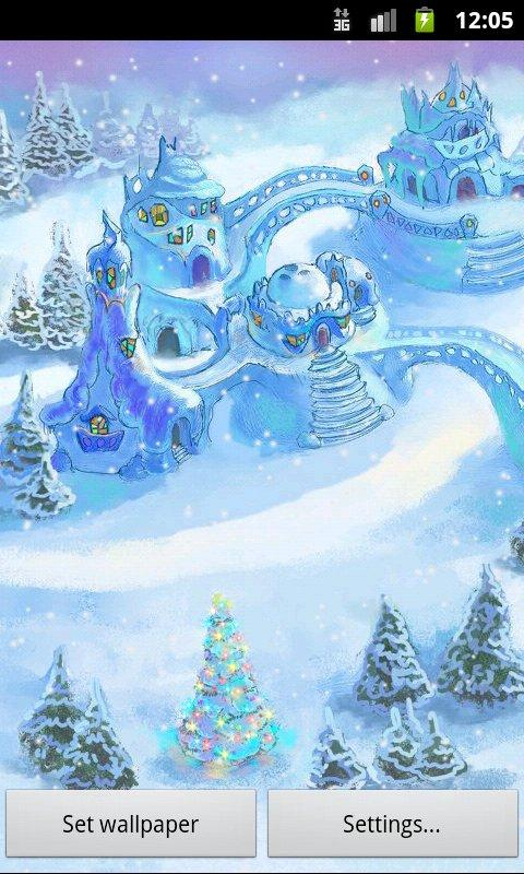 Snow Village Live Wallpaper screenshot #2