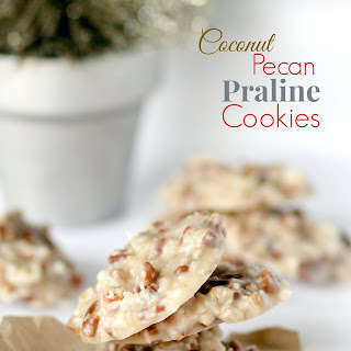 No Bake Coconut Pecan Praline Cookies