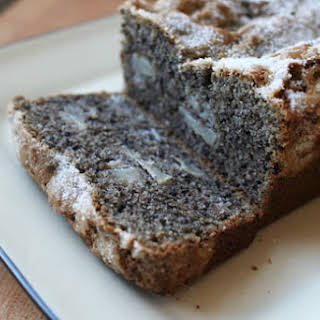 Black Sesame and Pear Tea Cake.