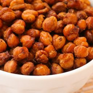 Recipe for Chickpeas (Garbanzo Beans) Roasted with Tamari and Sea Salt.