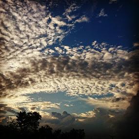 Cloudyby sony xperia Z2. by Tobi Wachr - Uncategorized All Uncategorized ( evening, dark, blue, light, Take )