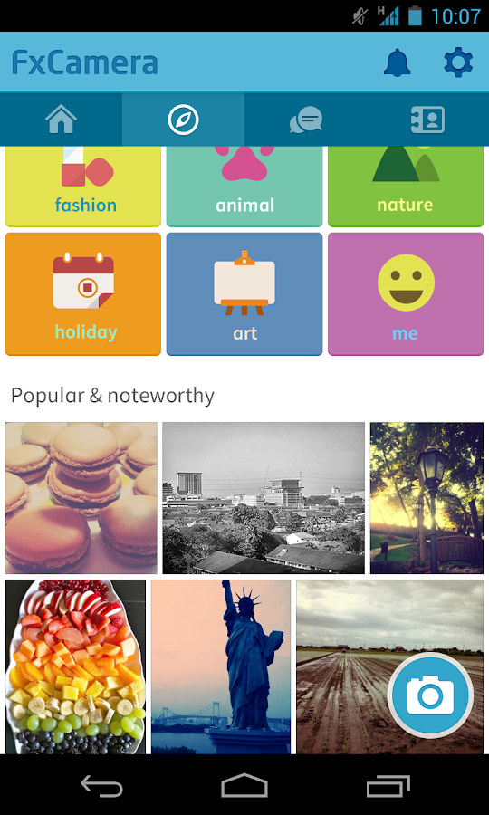 FxCamera - a free camera app - screenshot