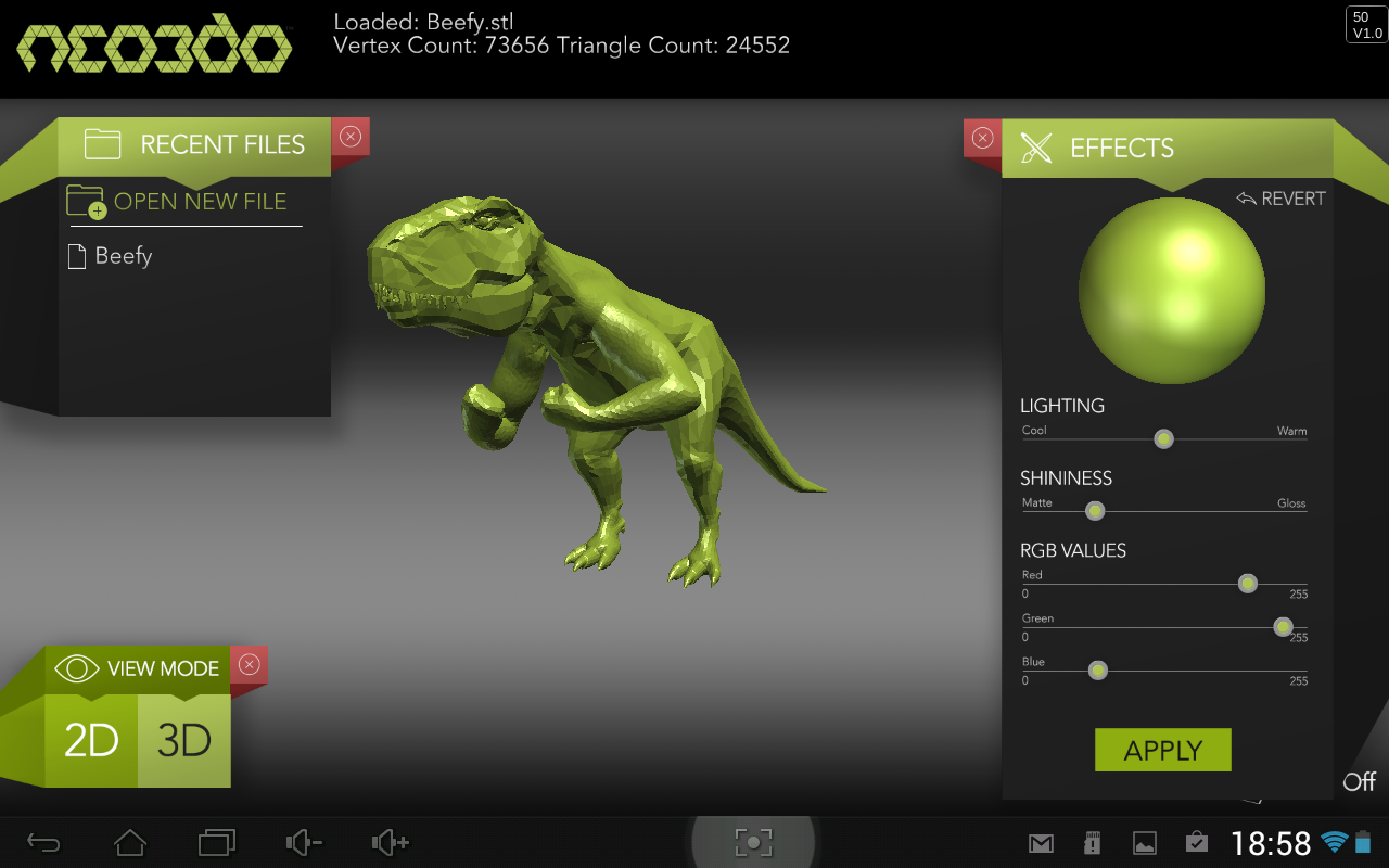 3d Print Preview Stl Viewer Android Apps On Google Play