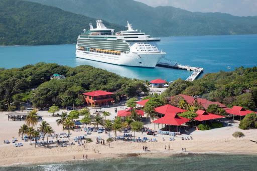 Navigator-of-the-Seas-in-Labadee-Haiti-3 - Navigator of the Seas in Labadee, Royal Caribbean's private resort on the north coast of Haiti.