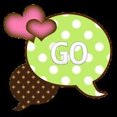 GO SMS THEME/GrnPinkDot