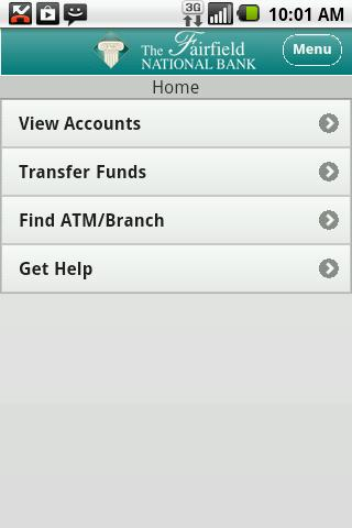 Fairfield National Bank Mobile - screenshot