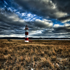 Lighthouse Sandy Point by Eugene Ball - Buildings & Architecture Decaying & Abandoned ( newfoundland, beautiful, lighthouse, historical, abandoned, , building )