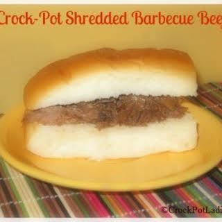 Crock-Pot Shredded Barbecue Beef.