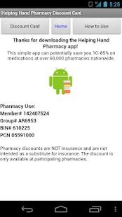 Helping Hand Rx Discount Card- screenshot thumbnail