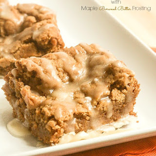 Pumpkin Bars with Maple Browned Butter Icing
