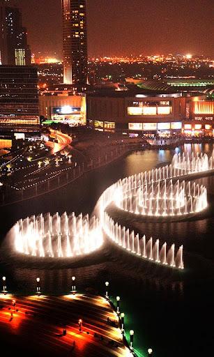 迪拜喷泉动态壁纸