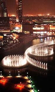 Dubaj fontána Živá Tapeta - náhled