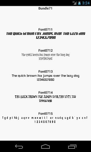 Fonts for FlipFont 71
