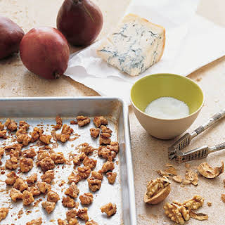 Pears with Maple Walnuts and Gorgonzola.