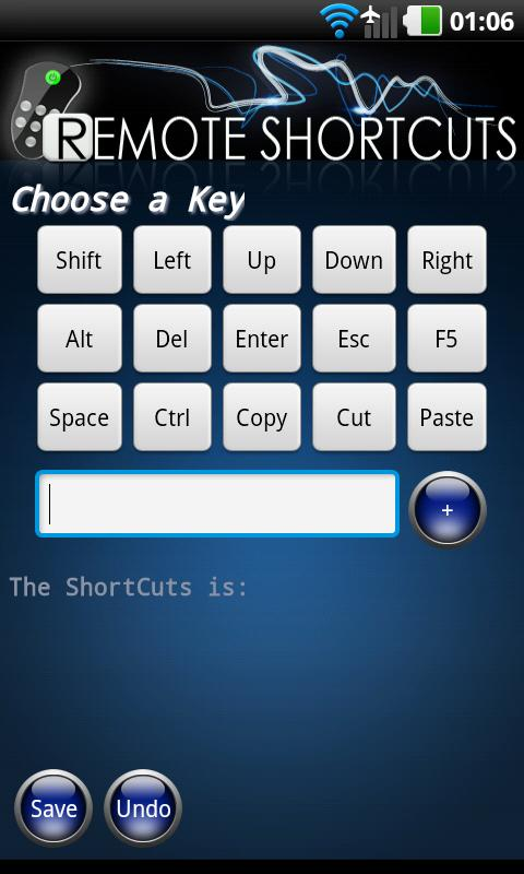Remote Shortcuts - screenshot