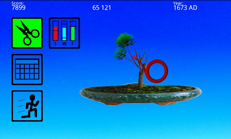 Bonsai 2D Tree Simulator- screenshot