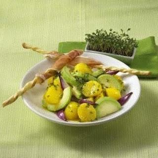 Kresse-Kartoffelsalat mit Parmaschinken
