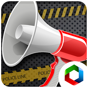 Police megaphone bullhorn for PC and MAC