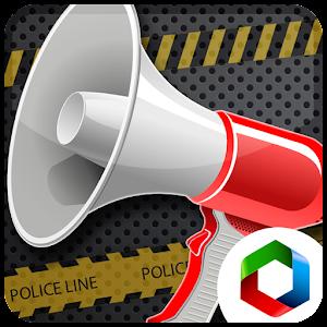 Полицейский рупор мегафон