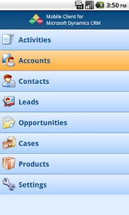 Mobile Client MS Dynamics CRM- screenshot thumbnail