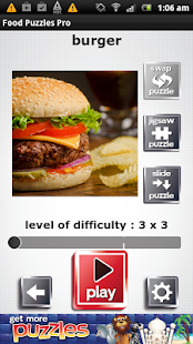 Food Puzzles - Free and Yummy- screenshot thumbnail