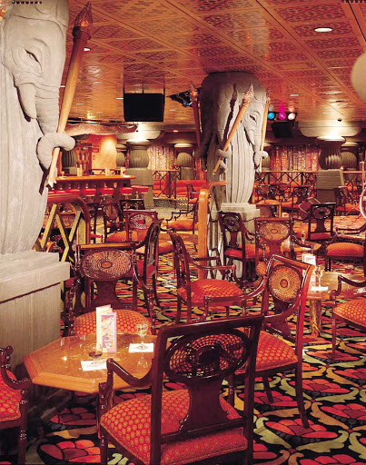 Carnival-Fascination-Passage-to-India-lounge - Relax in the Passage to India Lounge when you sail with Carnival Fascination.