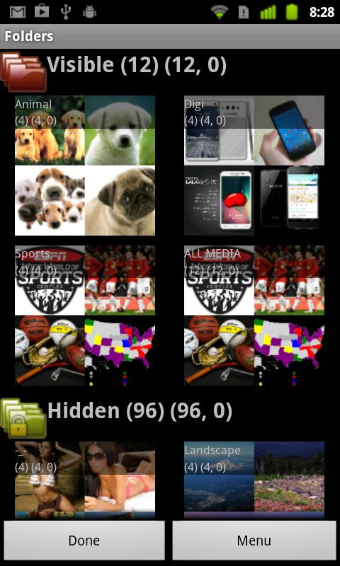 Privacy Gallery hides pictures - screenshot