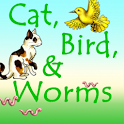 Cat Bird and Worms icon